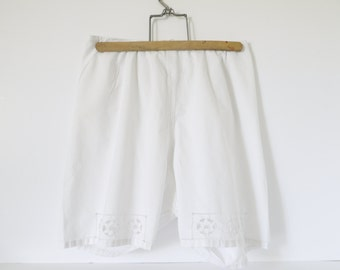 Antique French  knickers, bloomers,under garment, cotton lingerie  and lace wedding handmade