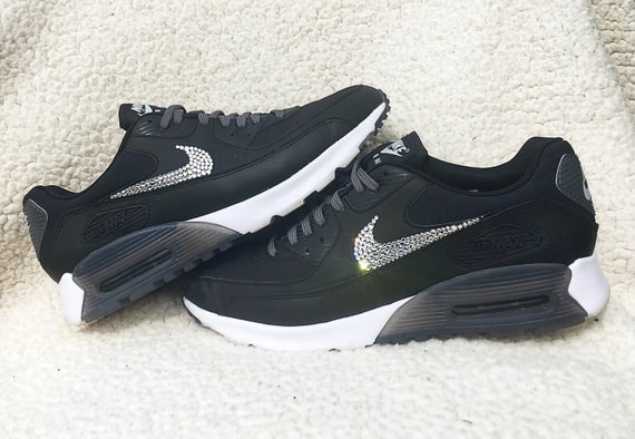 70%OFF Crystal Nike Air Max 90 Ultra Essential Black by SparkleNvie ... db70c5d64679