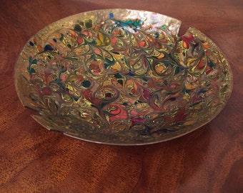 Mid-Century Modern Enamel Ashtray Bowl Fabulous design Rare ART