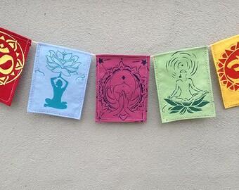 Yoga Prayer Flags. Meditation Prayer Flags.