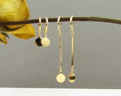Delicate Gold Drop Earrings