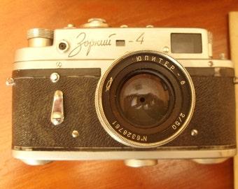 1956 Russian Soviet ZORKI 4 35mm USSR rangefinder Film Camera with Jupiter 8