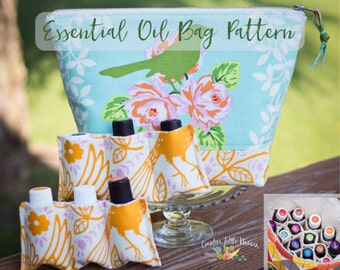 Essential Oil Bag, Pattern, Essential Oil Case Holds Up to 22 Bottles, Roller Bottles, 5ml 15 ml, PDF Pattern, *Permission to Sell*