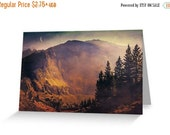 Sale 20% off Note Card, Sunrise on Mountains, small folding note card 4 x 6 inches, with kraft envelope, professional printing  - special pr