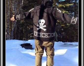 Pattern - Skulls Cowichan Style Sweater