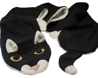 Cat Fleece Scarf