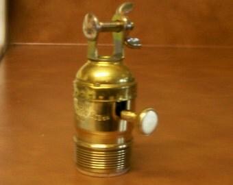 Lamp Part Bridge Lamp Quality Brass Knob UNO Socket Shell w/Thread