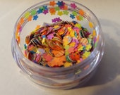 neon rainbow glitter mix pot