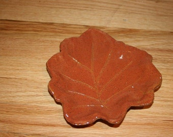 Autumn leaf spoon rest, candy dish, candle plate