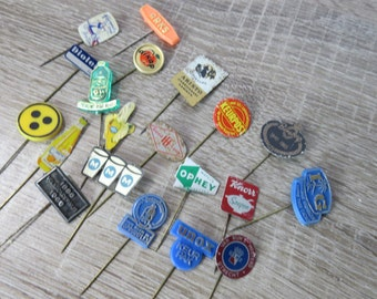 Vintage Lot 4 of 1950's 60's Dutch and Scandinavian Advertising Stick Pins Some Are Rare