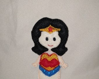 Wonder Woman Felt Finger Puppet