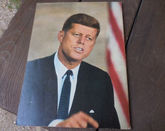 Vintage 1960s How and Why Wonder Book of John F. Kennedy Learning Children Retro Reading 35th President Special