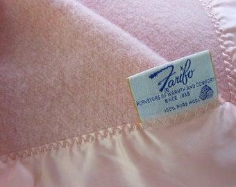 Wool FARIBO Blanket Pink Washable