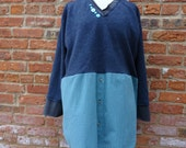 Upcycled Sweater,Boho Sweater,Cottage Chic Sweater,Shabby Chic Sweater,Wool Sweater,by Nine Muses Of Crete