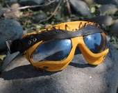 Burning Man Goggles: Professionally handmade leather goggles made to conform and bring comfort to a dusty feller.