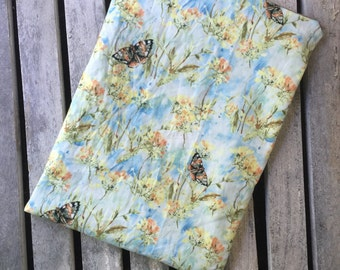 """Travel wet bag 10""""x13""""- Butterflies and Wildflowers-optional strap available-"""