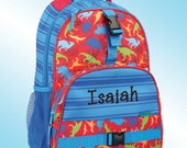 Backpack - Personalized and Embroidered - All Over Print Backpack - DINOSAURS