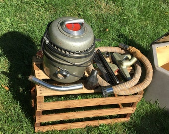 Vintage Lewyt Model 40 Cannister Vacuum Late 1940s Works!