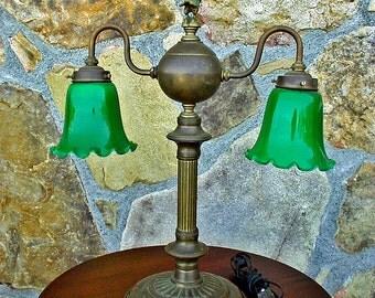 Vintage Bankers Lamp Etsy