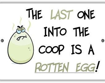 Rotten Egg Indoor/Outdoor Aluminum No Rust No Fade Sign
