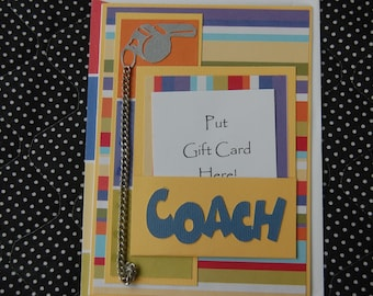 Coach Gift Card Holder and Coordinating Envelope