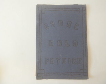 Handmade Household Physics 1930's, Vintage Physics, Science Collection, Physics Ephemera