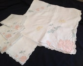 Vintage Table cloth and matching napkins