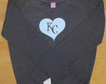 KC heart Juniors Slouchy Pullover Feminine Fit