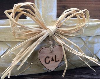 Custom Flower Girl Basket Beach or Country Wedding