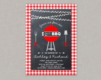 I Do BBQ Invitation, Backyard BBQ Invitation, Couples Shower, Bridal Shower, BBQ