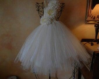 Cream Tutu Dress