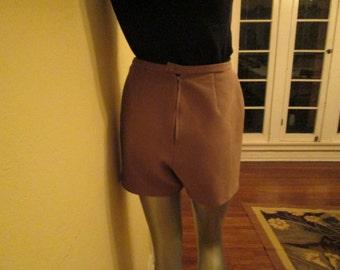 60s Short Shorts Women Beige / Hip Sexy Athletic Shorts Medium