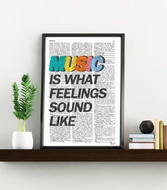 Music COLOR Music Wall Art, Music Art Music Poster, Gift for Music Lover Him, Music Room Decor Rock n Roll TYQ001