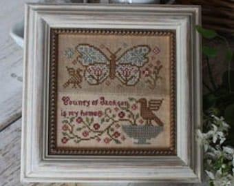 Butterfly Garden Club #5 : Blackbird Designs counted cross stitch patterns embroidery