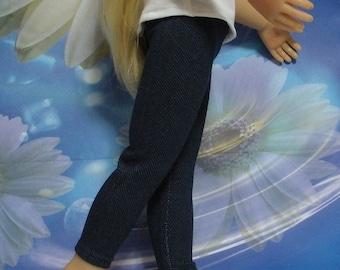 Fits 18 Inch Kidz 'n' Cats Girl Doll . Stretch Denim Leggings-Doll Clothes..D303