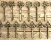 50 Pcs - Skeleton Key BOTTLE OPENERS – Set of 50 – 2 Styles - Create Your Own Wedding Favors! Ships from USA.