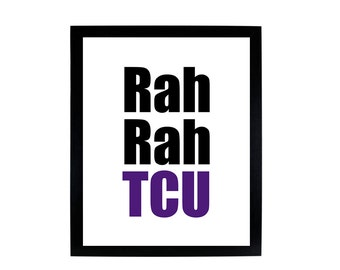 Rah Rah TCU, digital print