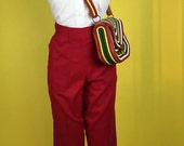 1950s Bright Red dungarees Jeans