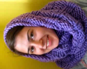 Cowl or Hooded Cowl - Lavender