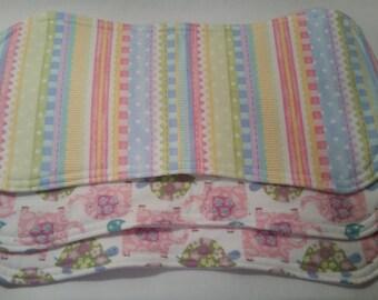 Baby Burp Cloths - Set of 2 Flannel Burp Cloths