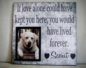 Pet Picture Frame, 12x12, If Love Alone Could Have Kept You Here, Dog lover, Pet Gift, In memory of, Pet Memorial