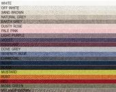Full Linen fabric samples set Lovely Home Idea