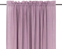 Natural linen curtains Blackout drapes or unlined curtain Header curtain panels Light purple curtains Custom color window treatments