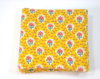 French Country Fabric Coasters Set of 4 Charles Demery Fabric Coasters French Yellow Coasters Beverage Coasters