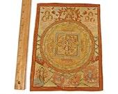 Vintage Thangka Tibetan Wall Hanging Hand Painted Deity on Fabric Fantastic Fine Details