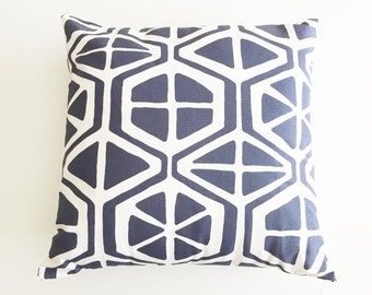 "Navy Pillow Cover 16"" x 16"" Pillow - with or without pillow insert - Orange Slice Style"
