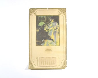 Vintage 1920s Calendar / Art Deco Advertising Calendar