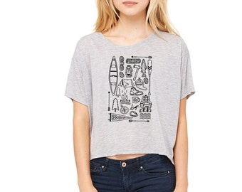 Play Outside Boxy Crop Tee