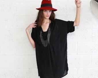 Final Summer Sale Black Pocket Dress- Black Knee Length Summer Dress