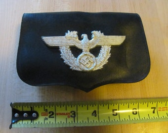 WW2 German Police Leather ammo pouch dated 1938